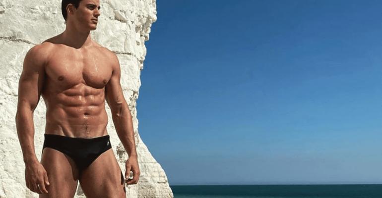 Pietro Boselli gnagno al mare, le foto social