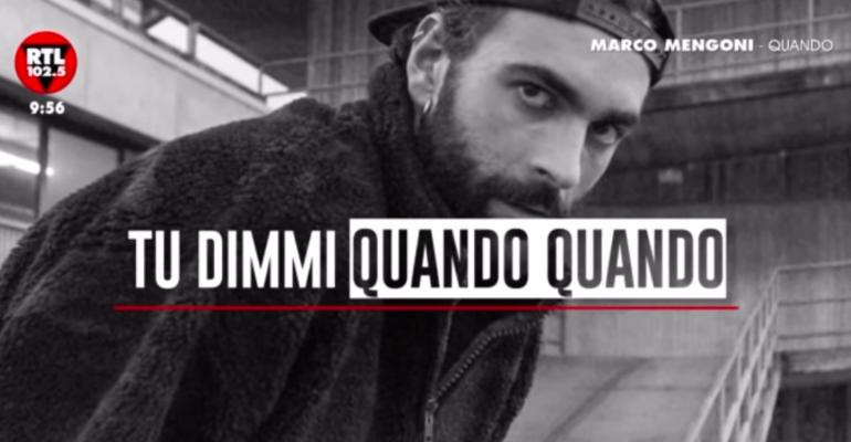 Marco Mengoni canta QUANDO di Pino Daniele, audio