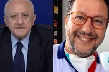 """Vincenzo De Luca schianta Salvini: """"Ha la faccia come il suo fondoschiena, peraltro USURATO"""" – video"""