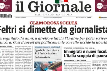 """Vittorio Feltri si dimette dall'Ordine dei Giornalisti: """"PERSEGUITATO"""""""
