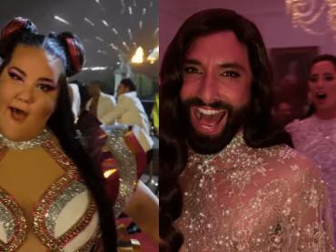 Eurovision Song Contest: La storia dei Fire Saga, il mega mash-up tra Madonna e Cher con Conchita Wurst, Loreen e Netta – video