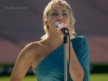 Global Goal Unite, Miley Cyrus canta i Beatles – i live di Shakira, Jennifer Hudson e tanti altri, video