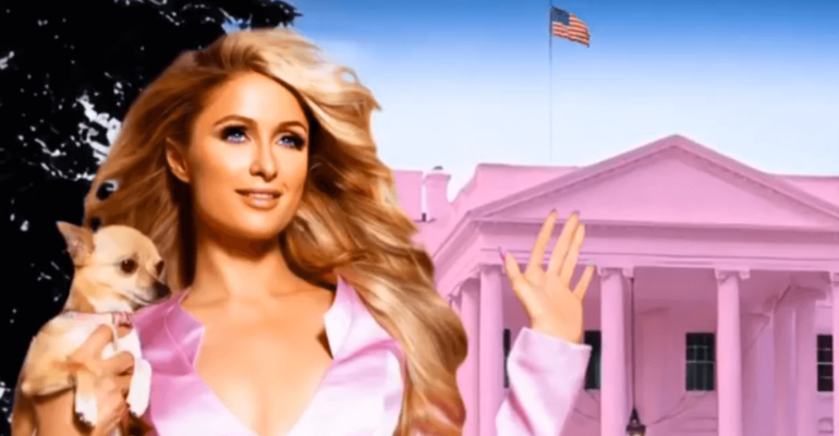Paris Hilton sfotte Kanye West e si candida alla Casa Bianca
