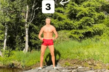 Erling Haaland, l'attaccante norvegese in mutande al mare – la foto social