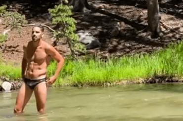 Nyle DiMarco bono da paura al lago Bin Pine – video social