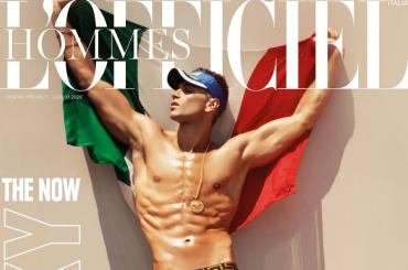 Fabio Mancini in mutande sulla cover di L'Officiel Hommes Italia