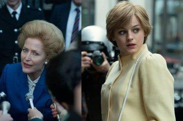 The Crown 4 dal 15 novembre su Netflix – ecco Emma Corrin negli abiti di Diana e Gillian Anderson in quelli di Margaret Thatcher