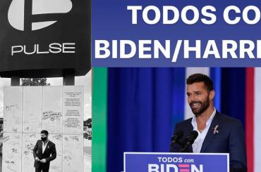 Ricky Martin fa visita al memoriale del Pulse e fa campagna elettorale per Joe Biden