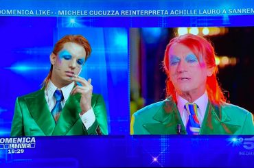 Michele Cucuzza è Achille Lauro a Domenica Live, il video