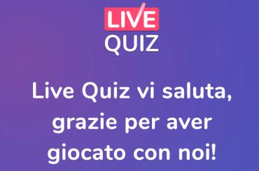 """Addio a  Live Quiz: chiusura ufficiale dopo aver assegnato 449.500 euro in """"buoni Amazon"""""""