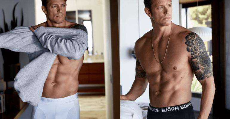 Joel Kinnaman in mutande per Björn Borg Underwear, le foto