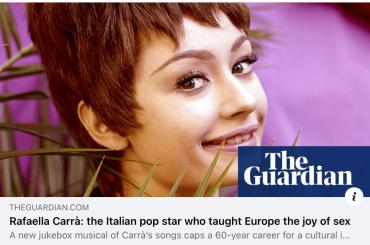 """Il Guardian celebra Rafaella Carrà: """"la popstar italiana che ha insegnato all'Europa la gioia del sesso"""""""
