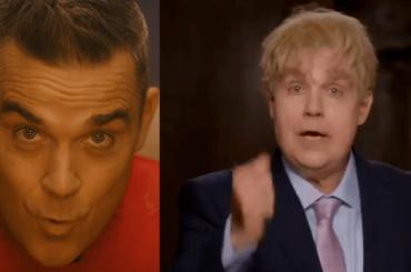 Robbie Williams canta il Natale con il Covid e diventa Boris Johnson nel video ufficiale di Can't Stop Christmas