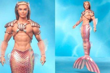 Ken di Barbie diventa Sirenetto dalla pinna rosa ed è subito virale