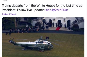 Donald Trump e Melania salutano PER SEMPRE la Casa Bianca, ecco il momento esatto – video
