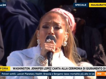 Inauguration Day 2021, Jennifer Lopez  canta per Joe Biden e Kamala Harris – VIDEO