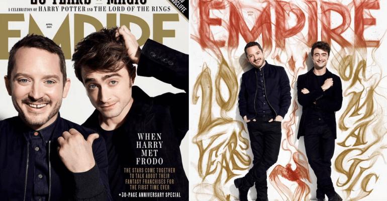 Elijah Wood e Daniel Radcliffe insieme su Empire per i 20 anni di Il Signore degli Anelli e Harry Potter