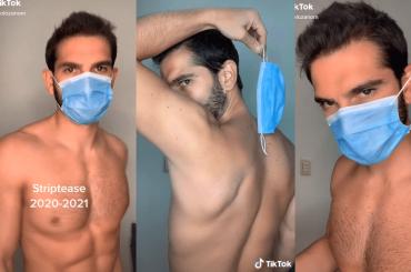 Sergio Lozano, è virale lo striptease TikTok con la mascherina – VIDEO