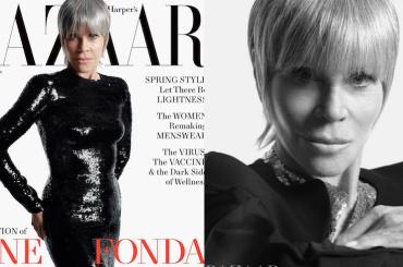 """Jane Fonda sulla cover di HARPER'S BAZAAR a 83 anni: """"Vorrei un uomo più giovane"""" – le foto"""