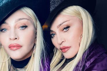 Madonna pischella social, le foto in viola