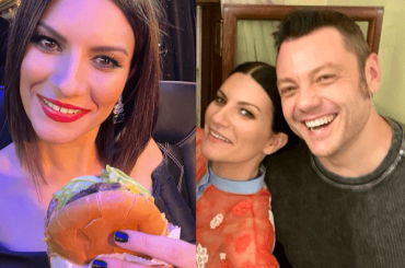 Tiziano Ferro celebra Laura Pausini (che si gode un hamburger a Oscar finiti)
