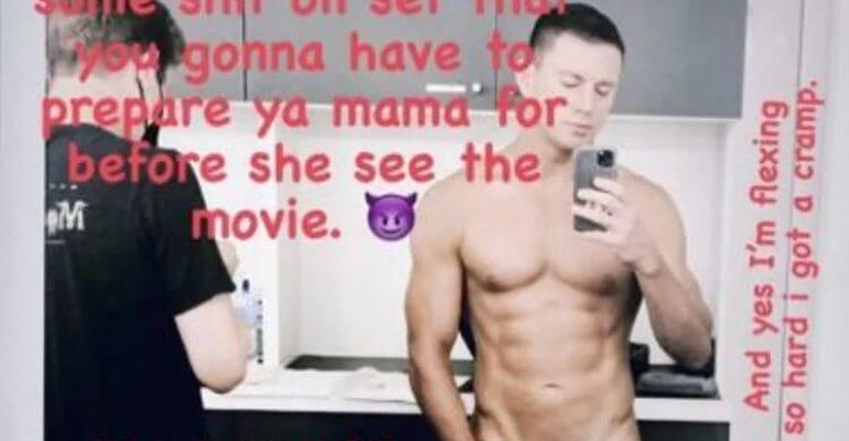 Channing Tatum nudo sul set di The Lost City of D, la foto social