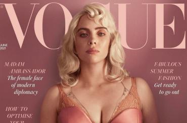 BILLIE EILISH bionda e quasi irriconoscibile su Vogue Uk, le foto