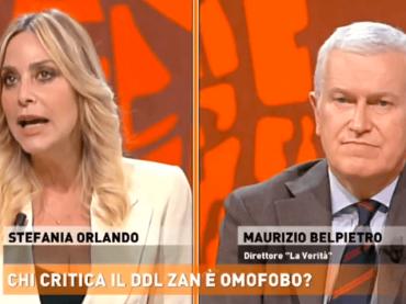 Stefania Orlando smonta le fake news sul DDL Zan in diretta su Rete 4, video