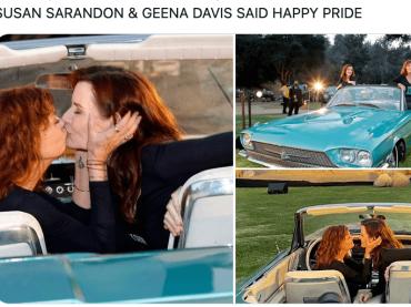 Susan Sarandon e Geena Davis si baciano per celebrare i 30 anni di Thelma e Louise