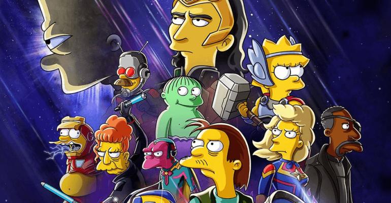 I Simpson incontrano l'Universal Marvel, arriva il corto Disney Plus