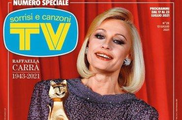 Tv Sorrisi e Canzoni, esce un numero speciale per celebrare Raffaella Carrà – la cover
