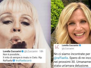 """Cuccarini piange Carrà: """"Mito di sempre"""". Ma nel 2014 si augurava di non rivederla per i prossimi 30 anni"""