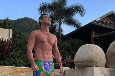 Luke Evans gnagno social dalla Colombia, le foto